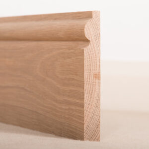 American White Oak Skirting Board Torus