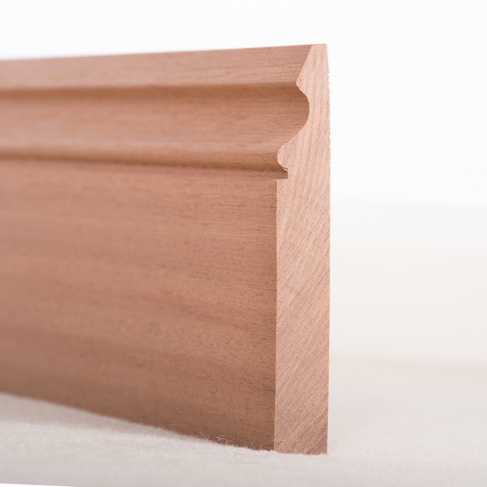 Sapele Skirting Board Ogee